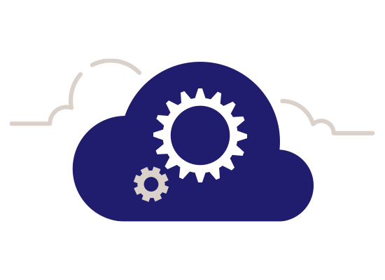 cloud with cogs